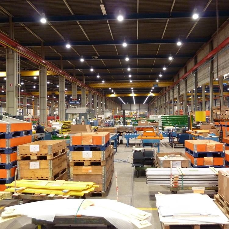 LED Magazijnverlichting armaturen bij Vanderlande