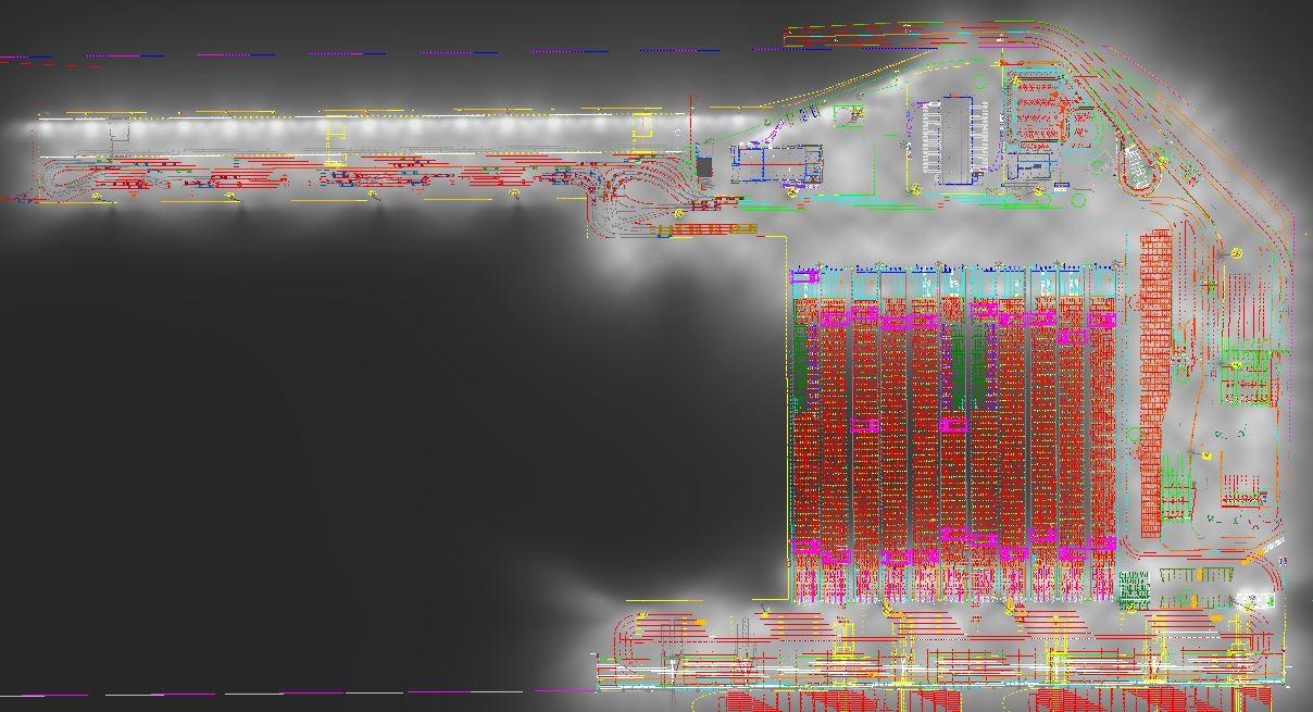 Rendering van haventerreinverlichting
