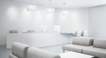 Verlichting in de kantoorruimtes