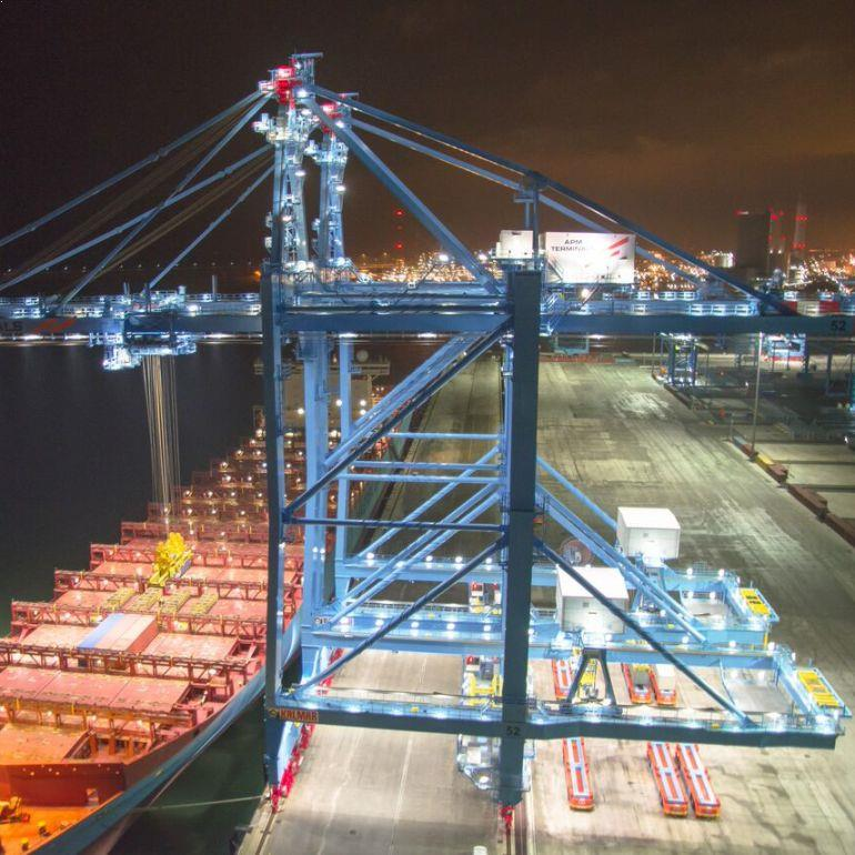 LED Havenkraanverlichting armaturen voor RWG Maasvlakte 2