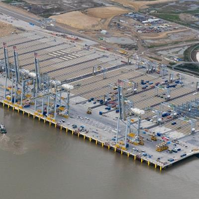 LED Haventerreinverlichting bij London Gateway