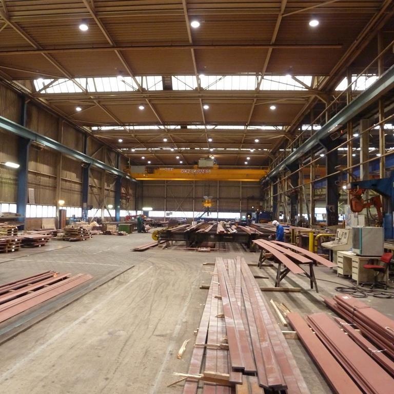 LED Bedrijfshalverlichting hoge fabriekshal voor IHC Kinderdijk