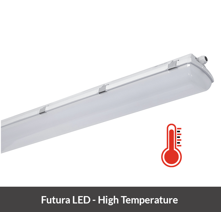 Futura LED armatuur hoge temperaturen