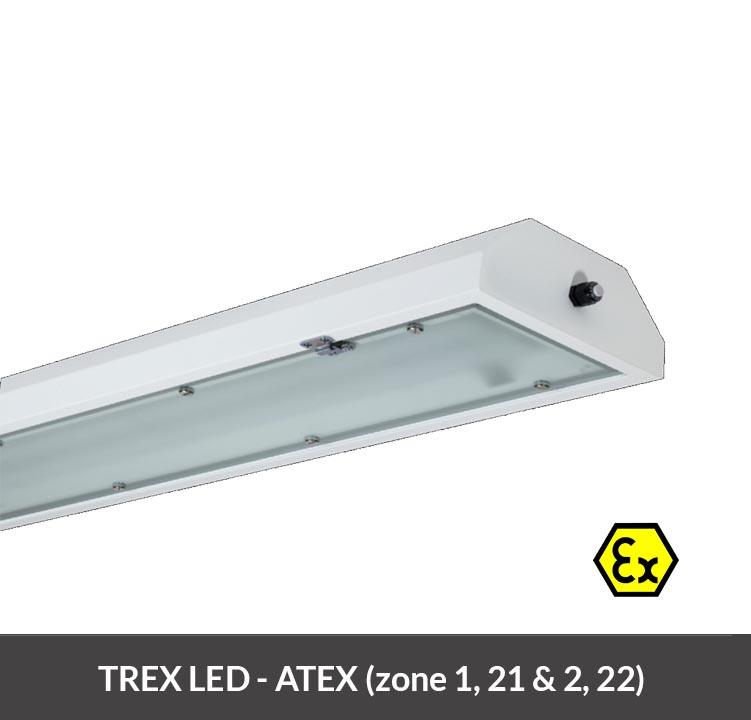 Explosiebestendige ATEX LED armatuur - TREX LED