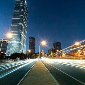 Led verlichting op een snelweg